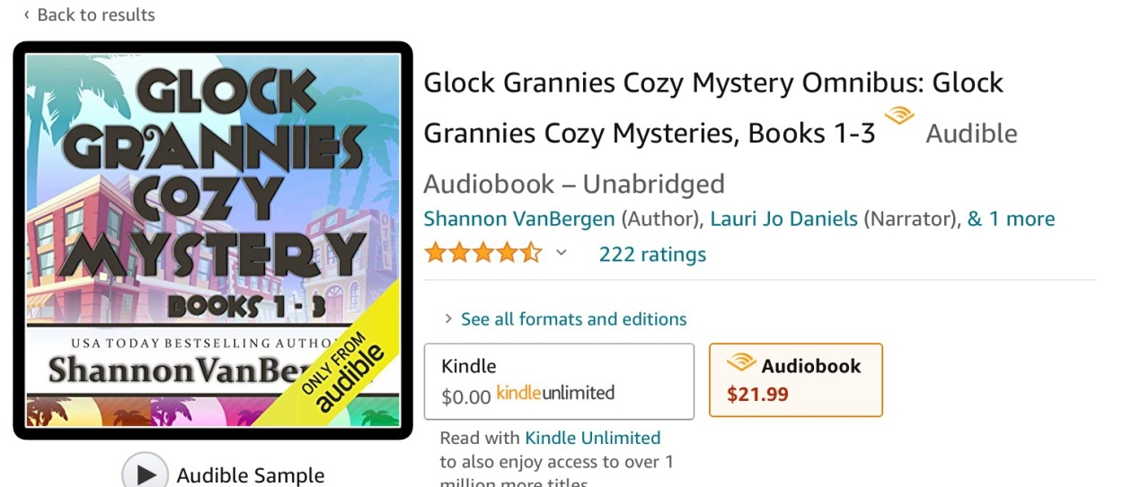 Cover of Boxed Set Glock Grannies Books 1-3 by Shannon VanBergen.